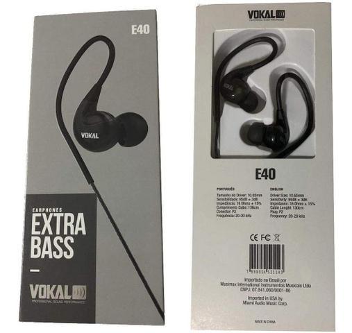 Imagem de Fone Vokal In Ear E-40 Preto