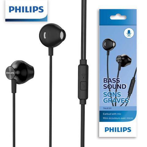 Fone de Ouvido Intra-auicular Com Microfone Preto Philips Taue101bk