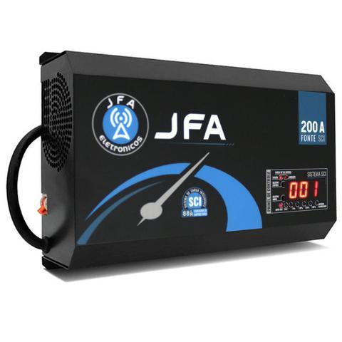 Imagem de Fonte Automotiva Digital JFA 200A 10000W SCI Bivolt Carregador Bateria LED Voltímetro Amperímetro