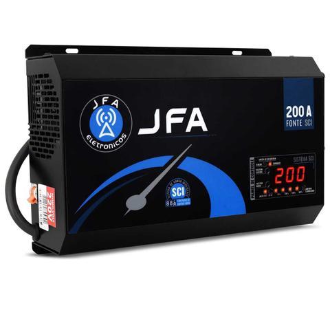 Imagem de Fonte Automotiva JFA 200A Amperes Mono 220V 3000W Carregador Bateria com Voltímetro e Amperímetro
