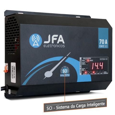 Imagem de Fonte Automotiva JFA 70A 3500W SCI Carregador Bateria Bivolt Display LED Voltímetro Amperímetro