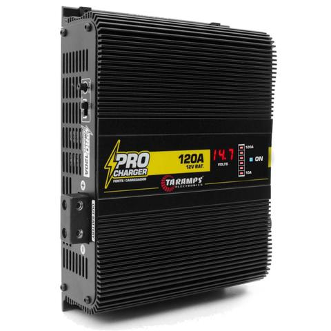 Imagem de Fonte Automotiva Taramps 120A Pro Charger 1700W Carregador Bateria Voltímetro Bivolt Automático