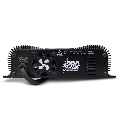 Imagem de Fonte Automotiva Taramps 60A Amperes Pro Charger 860W Bivolt com Seletor Voltagem e Voltímetro LED