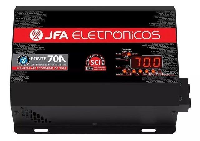 Imagem de Fonte Carregador Automotiva Jfa 70a Amperes Bivolt Slim