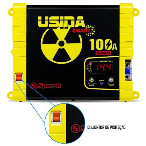 Imagem de Fonte Carregador Automotiva Usina 100A Display Voltímetro e Amperímetro