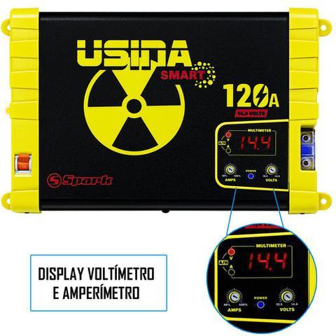 Imagem de Fonte Carregador Automotiva Usina 120A Plus Display Voltímetro e Amperímetro
