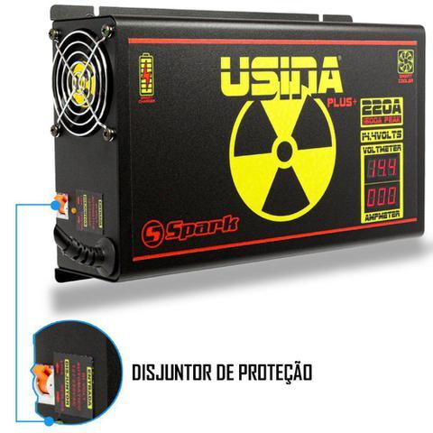 Imagem de Fonte Carregador Automotiva Usina 220A Plus Display Voltímetro e Amperímetro