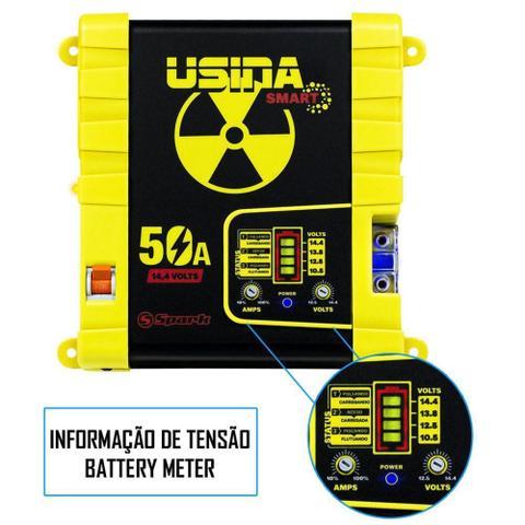 Imagem de Fonte Carregador Automotiva Usina 50A Plus Battery Meter