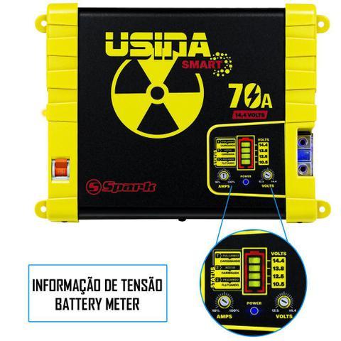 Imagem de Fonte Carregador Automotiva Usina 70A Plus Battery Meter