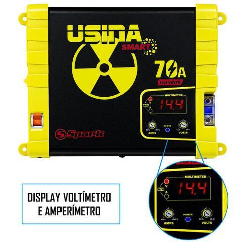 Imagem de Fonte Carregador Automotiva Usina 70A Plus Display Voltímetro e Amperímetro