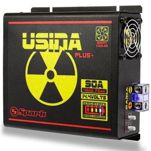 Imagem de Fonte Carregador Automotiva Usina 90A Plus Battery Meter