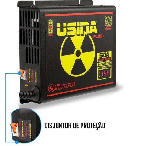 Imagem de Fonte Carregador Automotiva Usina 90A Plus Display Voltímetro e Amperímetro