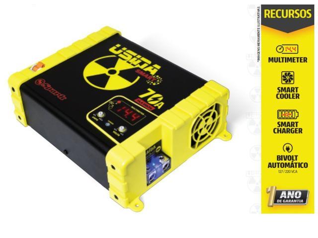 Imagem de Fonte Carregador Bateria Usina Spark 70a Plus 12v Voltimetro