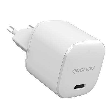 Imagem de Fonte carregador USB tipo C turbo 20w iPhone 11 12 Android S20 original Geonav tomada parede celular