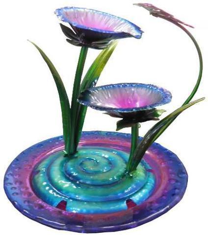 Imagem de Fonte De Agua Cascata Decorativa em Metal Borboleta para Decoracao para Jardim e casa (FT-S)