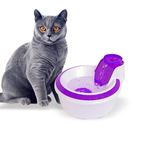 Imagem de Fonte E Bebedouro Pet Automático Com Filtro Elétrico Para 2 Litros De Água