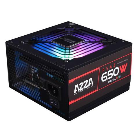 Imagem de Fonte Gamer AZZA 650W RGB 80 PLUS Bronze PFC ATIVO, PSAZ-650W-ARGB