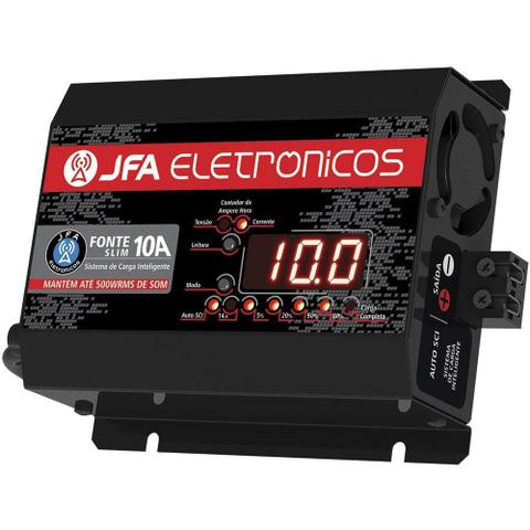 Imagem de Fonte Jfa 10A Amperes Automotiva Sci Slim - 14.4 V - Bivolt