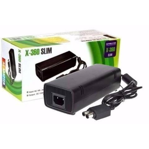 Imagem de Fonte Xbox 360 Slim Bivolt 110v 220v 135w Ac Cabo De Força