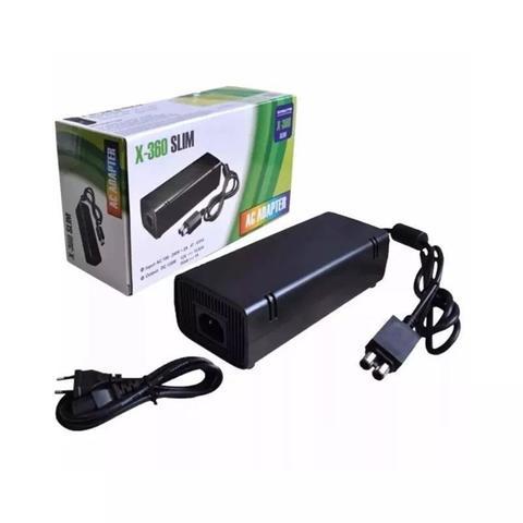 Imagem de Fonte Xbox Para 360 Slim Bivolt 110v/220v Mais Cabo De Força