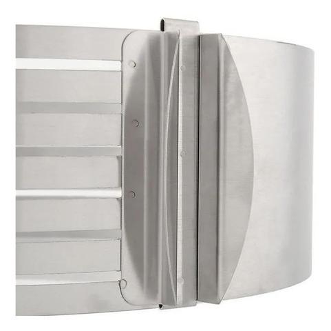 Imagem de Forma Anel Aro Cortador Fatiador Tamanho Regulável Corte 7 Camadas Bolo Confeiteiro 15 - 20 cm