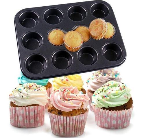 Imagem de Forma Cupcake Aco Carboco Anti-Aderente 12div Winc