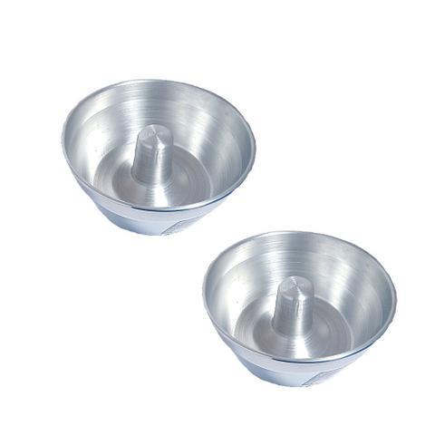 Imagem de Forma de bolo redonda alumínio assadeira bolo pudim nº 18 / kit 10 peças