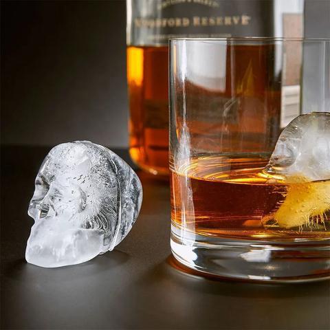 Imagem de Forma de Gelo Silicone Caveira 3D Bebida Bar Chocolate Festa