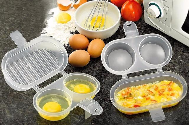 Imagem de Forma de ovo p fritar omeleteiro microondas kit com 2 pçs