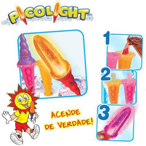 Imagem de Forma de Picolé - Picolight com Luz - Rosa e Laranja - Solzinho