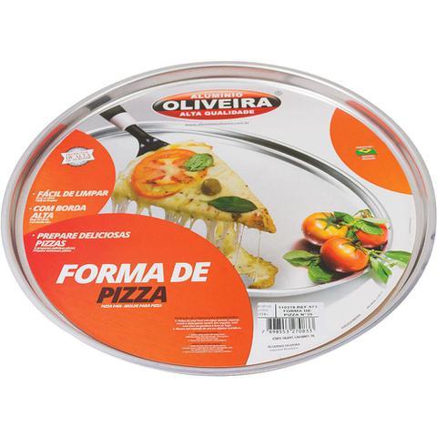Imagem de Forma de Pizza 35cm Oliveira Polida 573