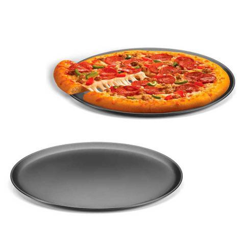 Imagem de Forma de Pizza Assadeiras Antiaderente Lisa 2 Peças 35 cm