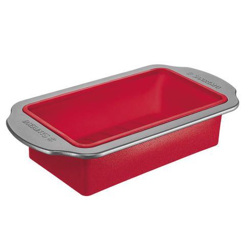 Imagem de Forma de Silicone Antiaderente 31cm Vermelha - Sanremo