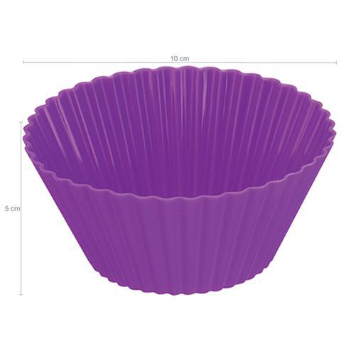 Imagem de Forma de Silicone Bolo Cupcake Pudim Petit Gateau 2 Unidades Lilás