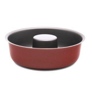 Imagem de Forma P/ Pudim/Bolo Meridional Baixa 24 Cm Vermelha
