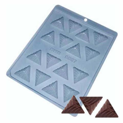 Imagem de Forma para Chocolate Bombom Triangular Ref. 9537 - Pacote 5 formas