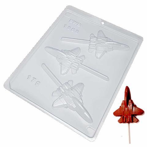 Imagem de Forma para Pirulito de Chocolate Avião Ref. 1353 - 5 formas