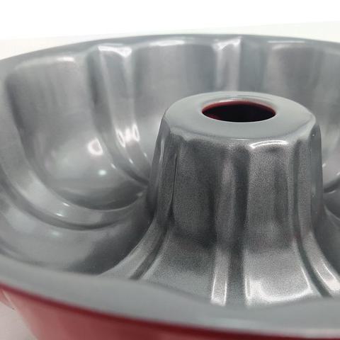 Imagem de Forma Redonda Antiaderente 23cm Versátil Pudim Torta e Bolos