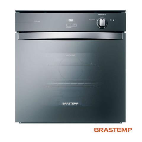 Imagem de Forno à Gás de Embutir Brastemp  78 Litros - Grill e Timer Touch Inox Espelhado - BOA84AR - 220V