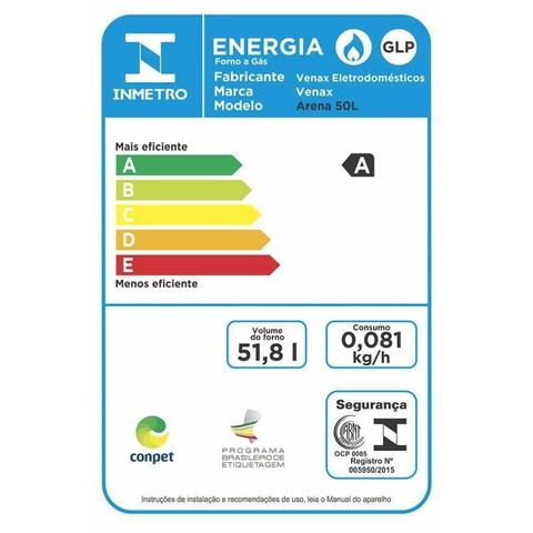 Imagem de Forno de embutir a Gas 50L arena-eg GII Inox Gás Glp