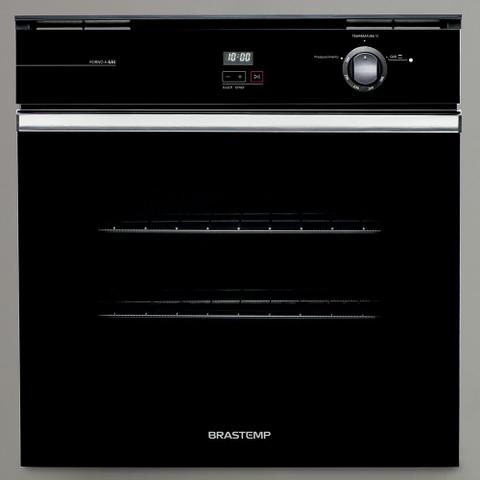 Imagem de Forno de embutir a gás Brastemp 78 litros Preto com grill e timer touch