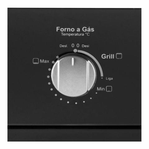 Imagem de Forno de Embutir a Gás Built Glass 50 Litros Preto