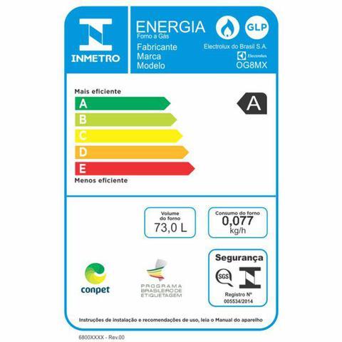 Imagem de Forno de Embutir a Gás Electrolux OG8MX 73L Inox com Grill 220V