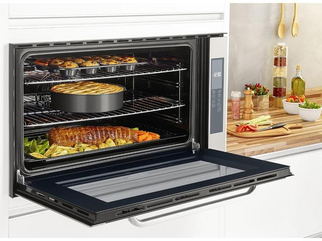 Imagem de Forno de Embutir Elétrico Brastemp Gourmand - BOC90 BRBNA Inox 105L Grill Timer