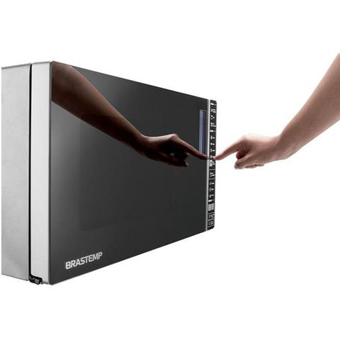 Imagem de Forno de Micro-ondas Brastemp Espelhado com Grill 32L Inox BMG45A