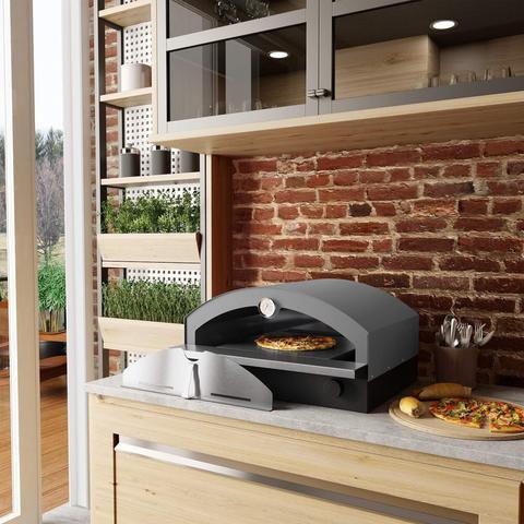 Imagem de Forno de Pizza à Gás Portátil Metávila Cinza