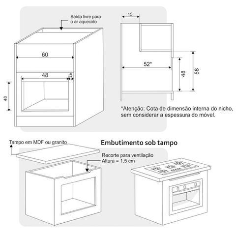 Imagem de Forno Elétrico de Embutir 50 Litros Built