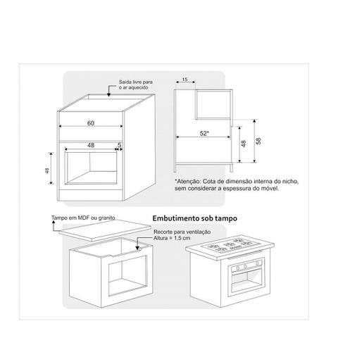 Imagem de Forno Elétrico de Embutir Built 50 Litros