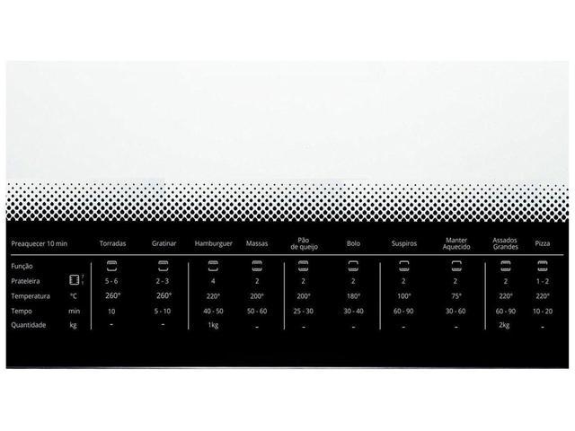 Imagem de Forno Elétrico de Embutir Consul COB84 AR - 84L Grill Timer Menu Controle Fácil