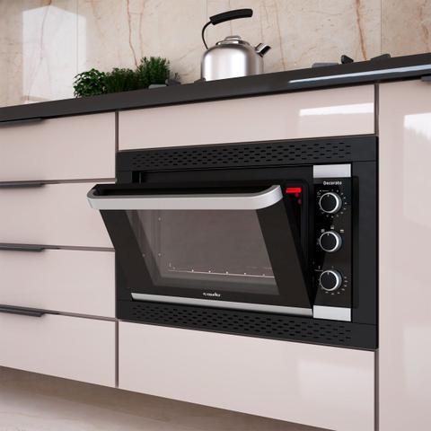Imagem de Forno elétrico de embutir decorato preto 44 litros 127v